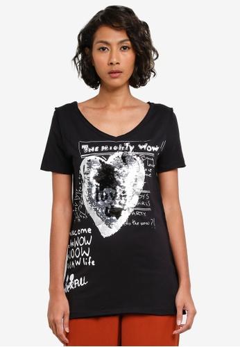 Desigual black Sylvia Tee DE160AA0S544MY_1