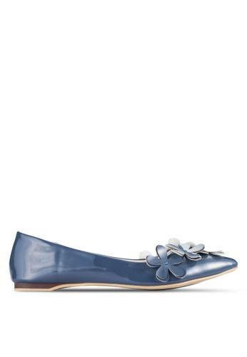 Sunnydaysweety blue 2018 New Floral Tip Toe Flats A0207BL 31376SH05D71B2GS_1