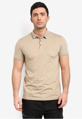 Brave Soul brown Julius Polo Shirt 1F80BAAD8AC61BGS_1