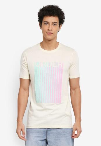 Factorie 白色 短袖印花T恤 0ED5DAA6EB3E71GS_1