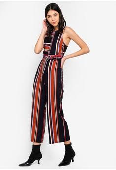 803a6a3423f4 60% OFF Miss Selfridge Petite Multi Colour Striped Jumpsuit RM 279.00 NOW  RM 111.90 Sizes 6 8 10