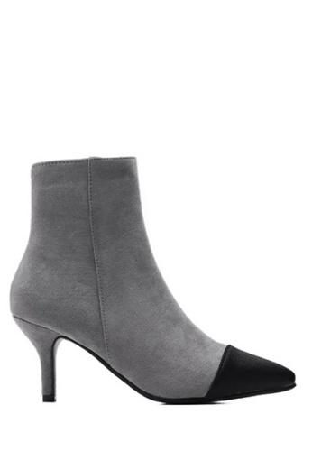Twenty Eight Shoes grey Pointy Toe Boots 281-3 TW446SH2VLHBHK_1