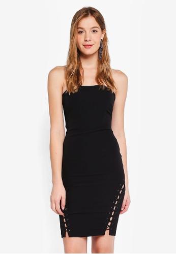Bardot black Luca Lace Up Dress B4846AAAC861F8GS_1