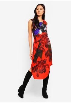 3fdb77c88b Desigual red Floral Asymmetric Dress 43E92AA9D68849GS 1