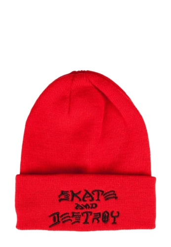 Thrasher red Thrasher SAD Embroidered Beanie Red 4F7F0AC5300568GS_1