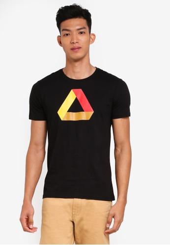 OVS black Short Sleeves T-Shirt 600FFAA4F281F2GS_1
