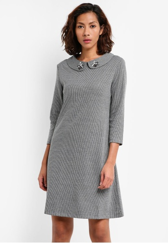 Mango grey Crystal Collar Dress 0EFE3AA436F022GS_1