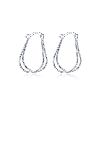 Glamorousky silver Simple and Fashion Line Earrings DD09AACECD6ED3GS_1
