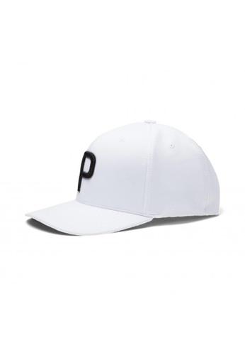 PUMA white P Snapback Men's Golf Cap B1B28AC463F6EAGS_1