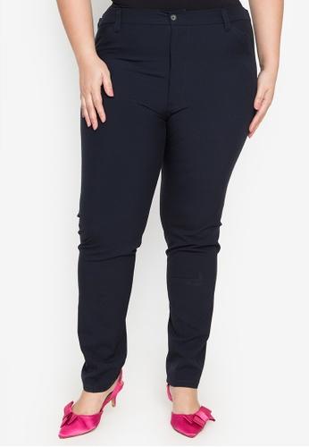 Multiples black Eliza Plus Size Pants With Back Garter 9E6A9AAC3B2924GS_1