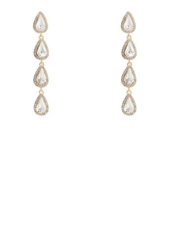 雨滴esprit官網閃鑽寶石耳環, 飾品配件, 耳釘