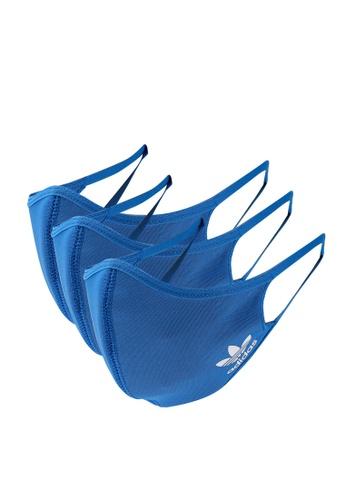 ADIDAS blue face covers 3-pack m/l D3681ACA0D1282GS_1