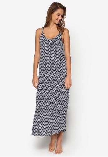 Ziggurat 印花V 領沙灘連身裙, 服esprit 價位飾, 服飾