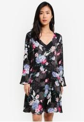 Wallis black Black Dropped Waist Floral Shift Dress WA800AA0S7CIMY_1