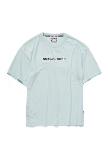 "FILA green FUSION ""NOI SIAMO FUSION"" Cotton T-shirt 390E4AA999D3B5GS_1"