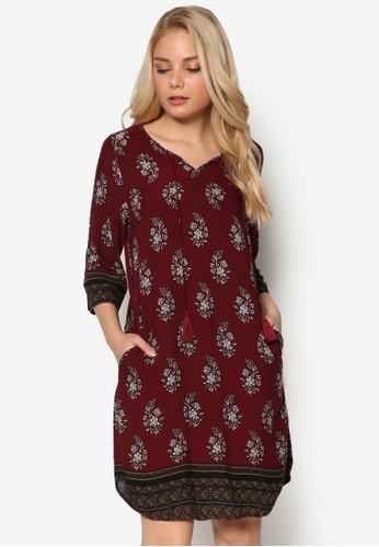 Boho Paisley 印花連身裙, 服飾, 洋zalora taiwan 時尚購物網裝