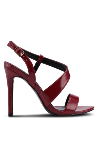 Something Borrowed red Strappy Heels 7287DSH0CABFF0GS_1