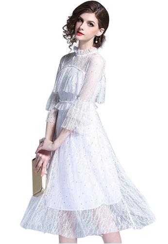 65b9d24c4c5 Sunnydaysweety white 2018 New Ruffle Sleeve Lace One Piece Dress A042408W  12372AA9E4F0DBGS_1
