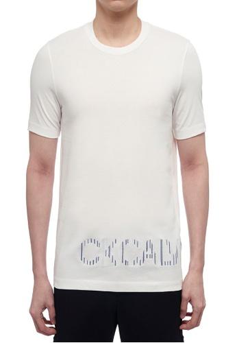 CK CALVIN KLEIN white Pima Cotton Jersey Short-Sleeved T-Shirt FEE7BAA7A7417FGS_1