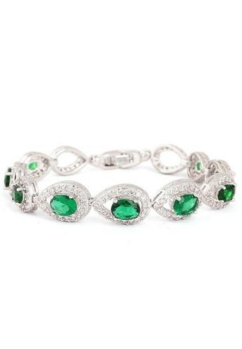 Vivere Rosse green Royal Luxury Bracelet with Emerald Gemstones VI014AC21ICCMY_1