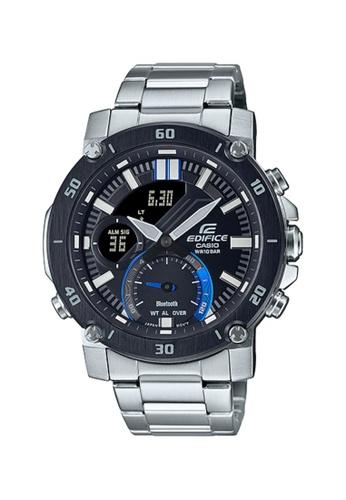 CASIO silver Casio Edifice ECB-20DB-1ADF Black and Silver Stainless Steel Watch 1F6E2AC5A3016CGS_1