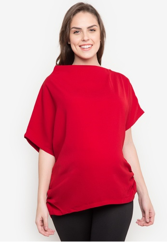 Great Expectations red Maternity Asymmetrical Top GR468AA0JUZNPH_1