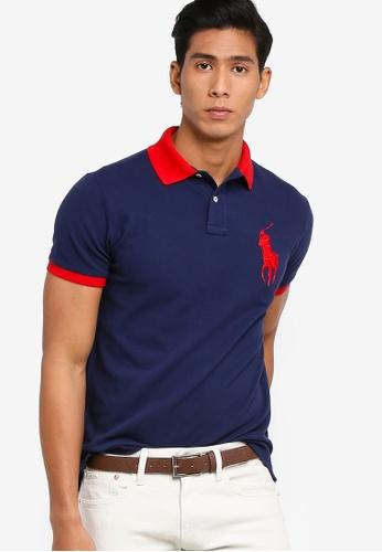 buy popular c3afd c077f Custom Slim Fit Basic Mesh Polo Shirt