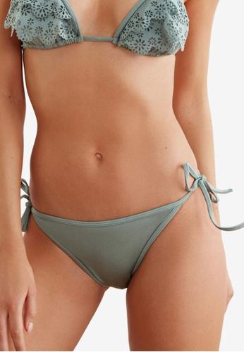 Trendyol green Low Waist Bikini Bottoms With Tie Sides 19F7FUS297224FGS_1
