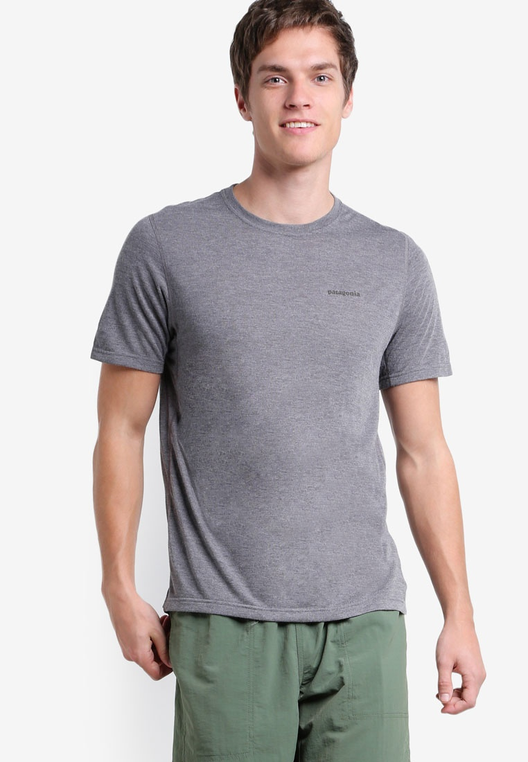 Trails Patagonia Sleeve Grey Shirt Short Nine T wqEBXxxSp