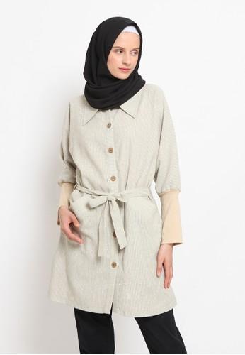 Agatha beige Lutfiah Dress A2C90AAE955F04GS_1
