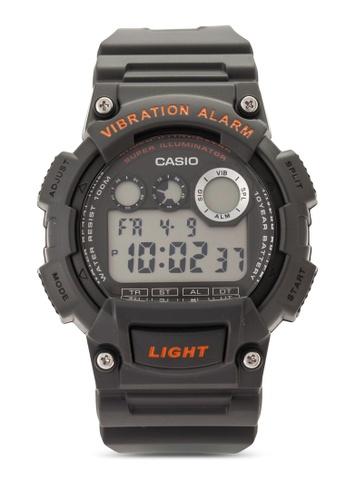 Casio black Men Collection Resin Strap Watch CA843AC23VJCMY_1