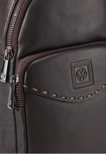 Volkswagen brown Volkswagen Genuine Leather Chest Bag VO089AC0SMAKMY_1