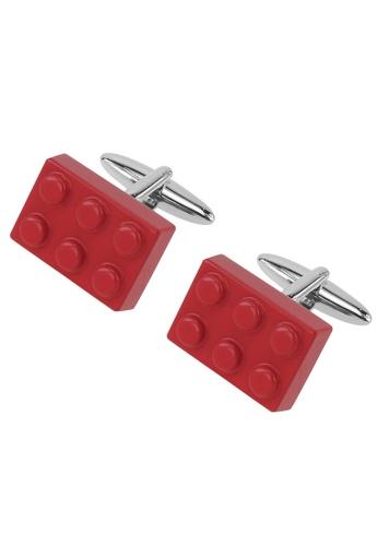 CUFF IT red Red LEGO Rectangular Cufflinks CU047AC99SNCHK_1