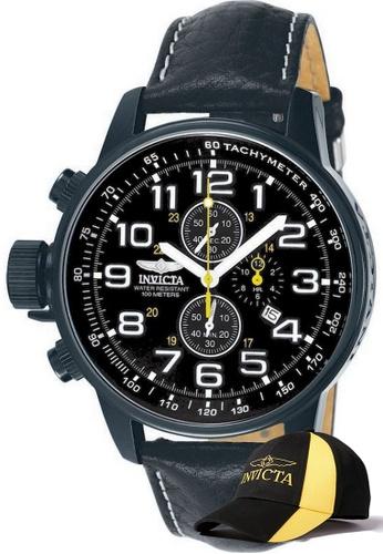 INVICTA black Invicta I-Force Men Chronograph 46mm Quartz Military Watch 3332 w/ Free Official Baseball Cap 00B0FACA52A740GS_1