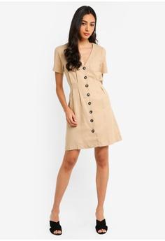 e26da713e11b Miss Selfridge Stone Linen Tea Dress S  89.90. Sizes 6 8 10 12 14