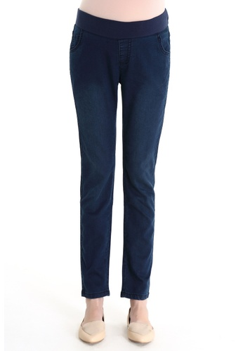 Bove by Spring Maternity blue Woven Whitney Slim Skinny Jeans IB2001 SP010AA86UKFSG_1