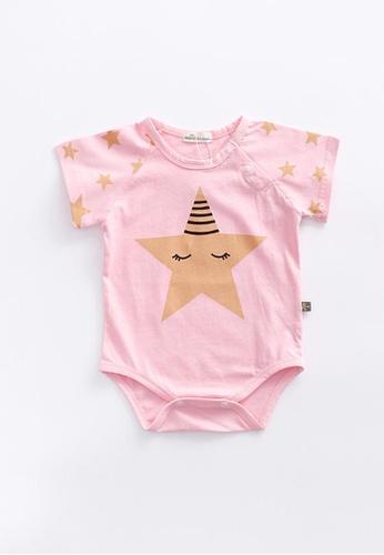 Little Kooma pink Baby Star Bodysuit - 0902 7089DKAF5AA08AGS_1