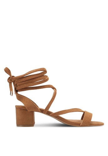 Rubi brown Lo Se Lace Up Heels RU506SH0T09WMY_1