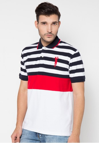 Golfer (Mid) Stripe Blking Golf Polo