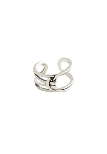 A-Excellence silver Premium S925 Sliver Geometric Ring 483F9AC886D572GS_1