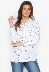 MARKS & SPENCER white Printed Satin Long Sleeve Shirt CF19CAAE0C9681GS_1