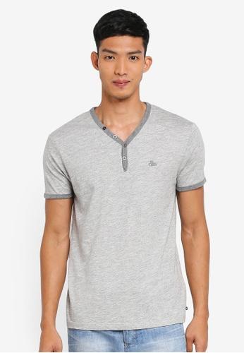 ESPRIT 灰色 短袖刺繡T恤 7E8F3AAB7686D5GS_1