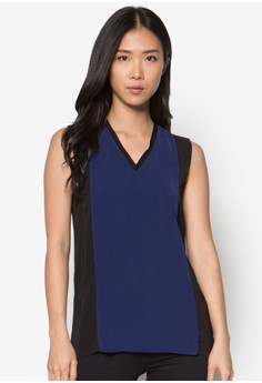 Collection Panelled V-Neck Top