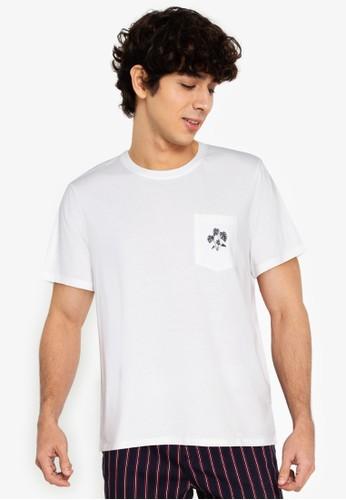 ZALORA BASICS white Monstera T-Shirt 4DE45AA0FFA650GS_1
