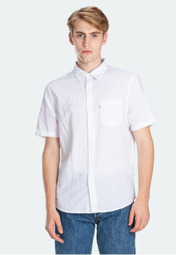 Levi's white Levi's Short Sleeve Classic One Pocket Shirt 86627-0000 119BCAA1294D13GS_1