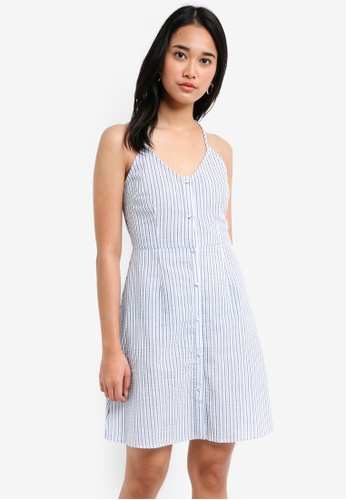 Something Borrowed blue Cross Back Button Down Cami Dress 433DAAA136C445GS_1