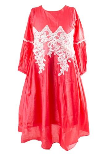 Pretty Girl Collection red Hatia Gaun Pesta Muslim 08E4FKAE73F2C4GS_1