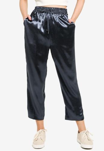 JEANASIS blue Sheeny Drawstrings Pants 06635AAB818851GS_1