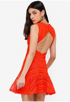 0380237b4b Bardot orange Fiesta Lace Dress 8624DAA9CE249EGS 1