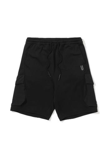 Fivecm black Multi-pocket sweat shorts 9B542AA5FEEAECGS_1